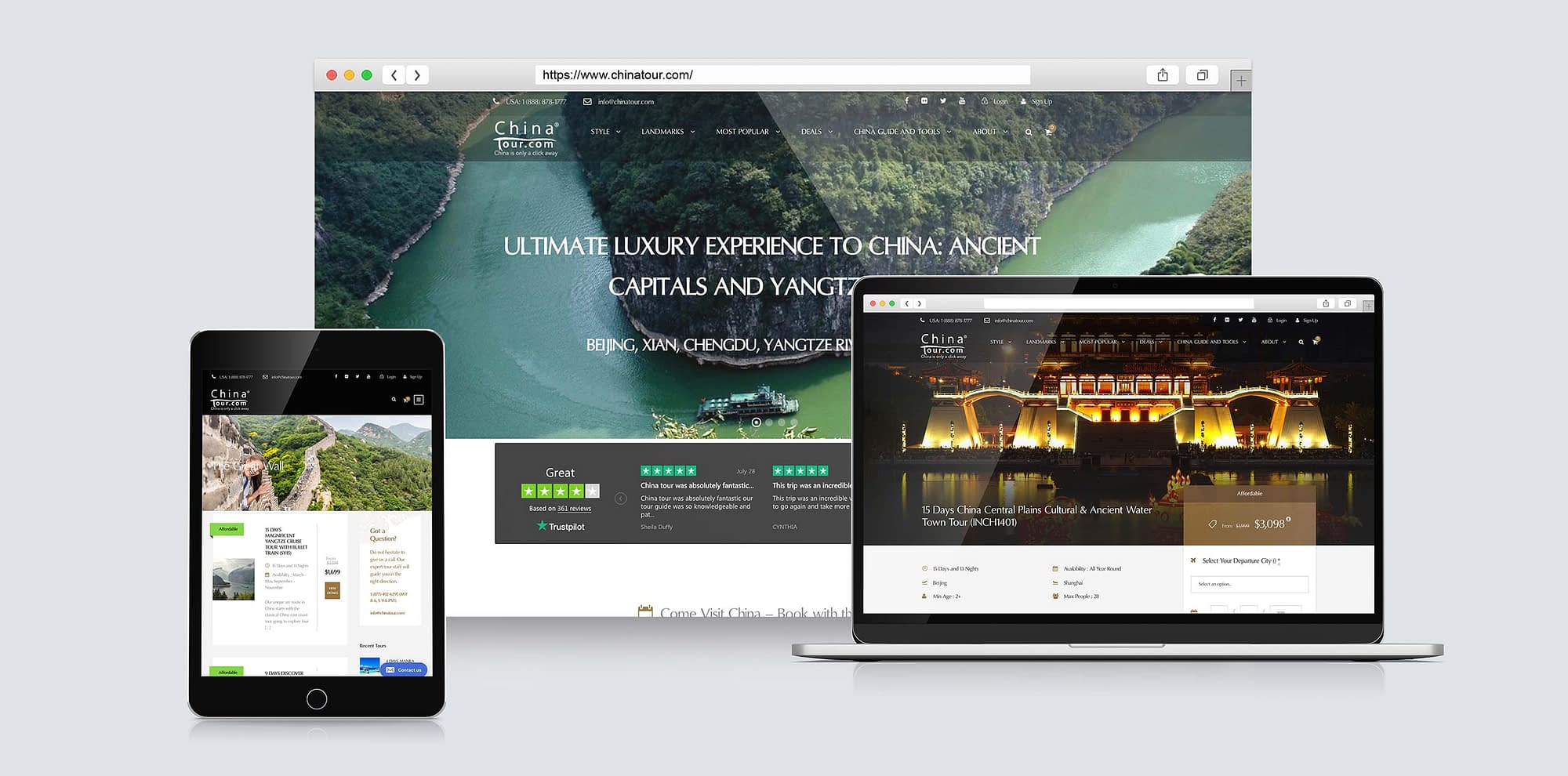 Tepia Co portfolio China Tour feature Image of responsive design