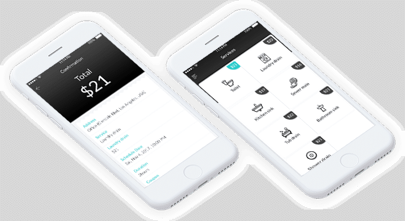 Tepia Co portfolio Slow Drain feature Image of app screens