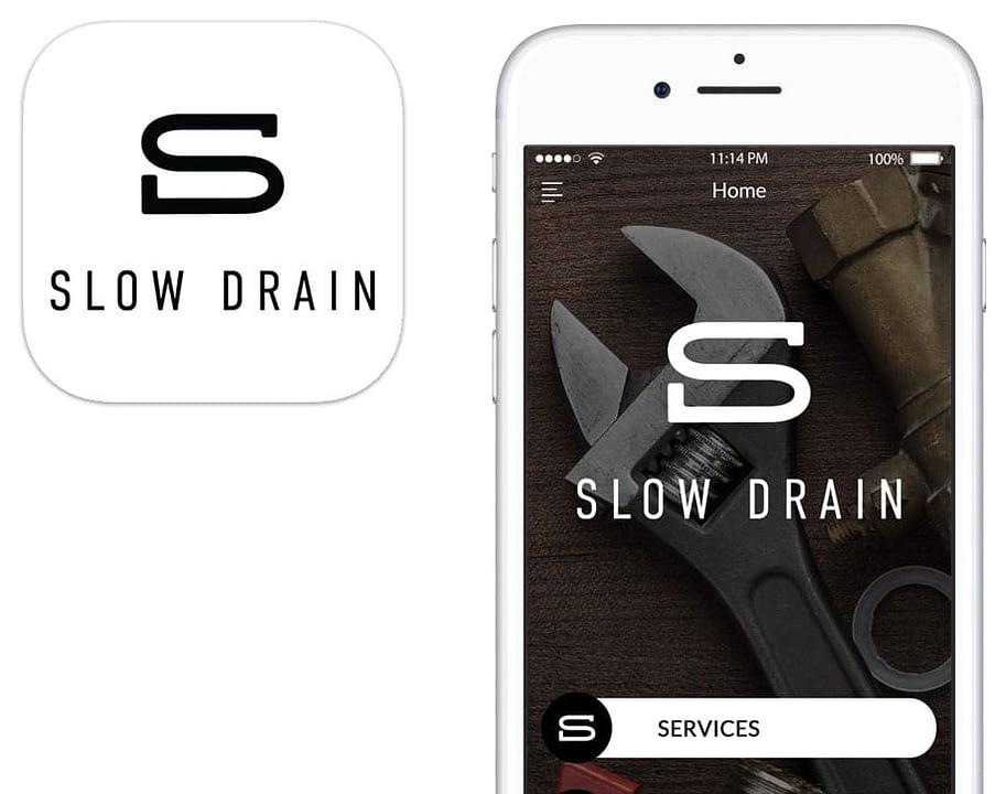Screenshot of the Slow Drain App featuring app badge